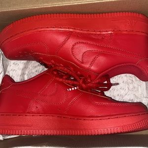 SALE red nike independence day air force 1